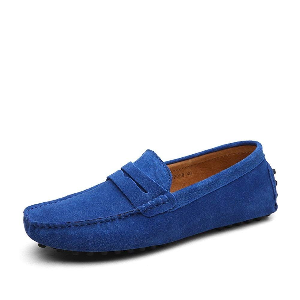 Color : J, Size : 40 Mens Shoes Suede Leather Formal Shoes Light Soles Loafers /& Slip-Ons for Casual Office /& Career Outdoor Navy Blue Green Khaki Royal Blue