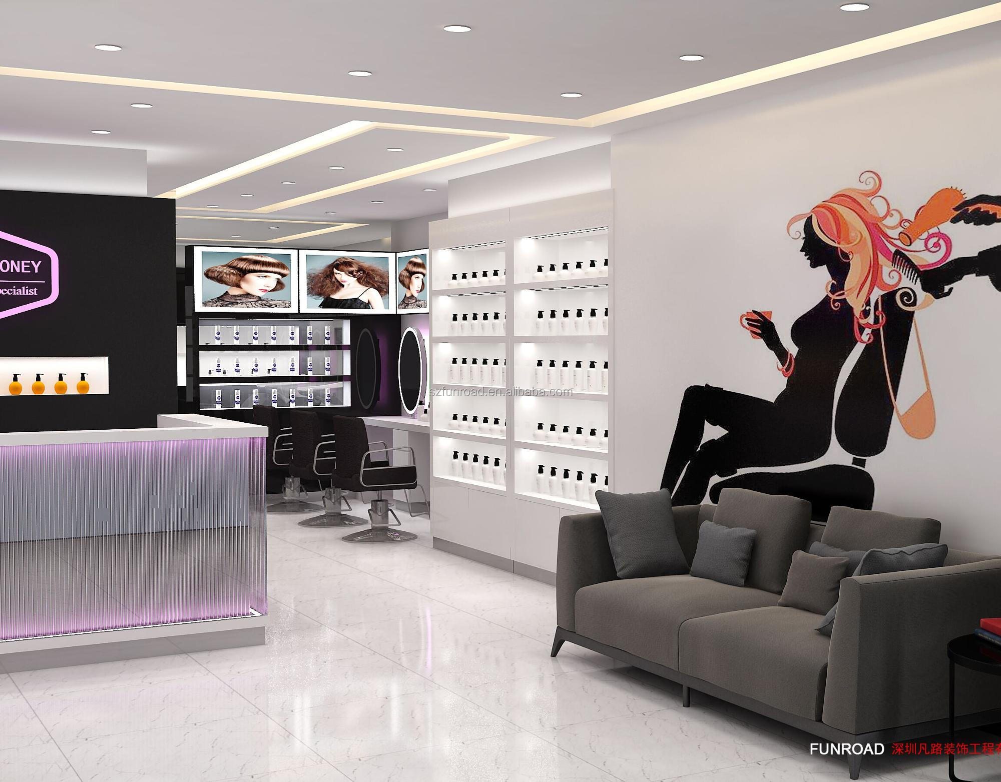Customized wooden used hair salon furniture sale from funroad