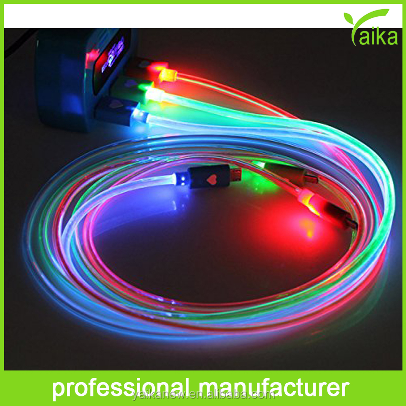 Wholesale cheap factory price Micro Usb y Cable with led light