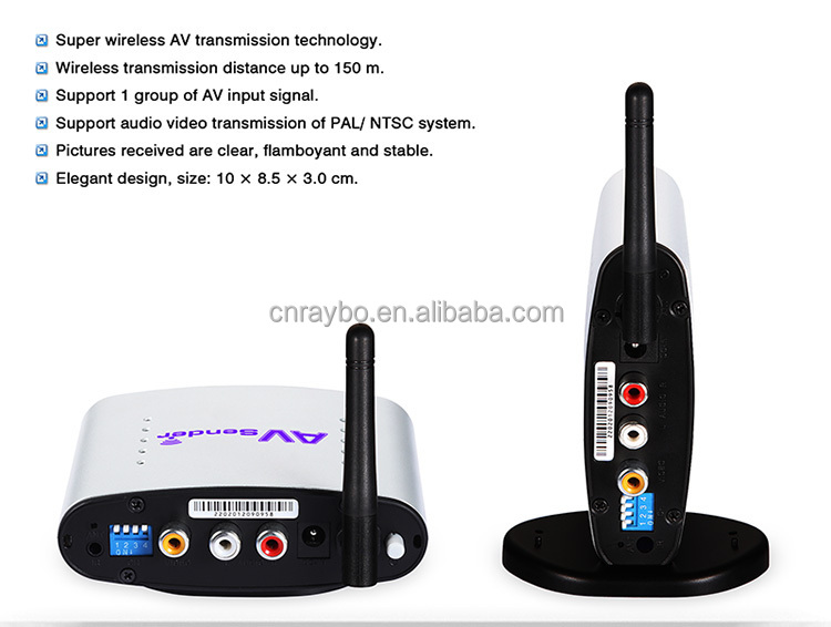 strong anti-interference 2.4G 150m Wireless AV sender Receiver pat330 enjoying hi-fi audio and visual effects