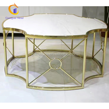 Custom novelty design of stainless steel table metal furniture.