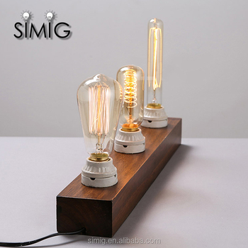 Hot Sale Ce Certificate Vintage Edison Style Light Bulbs Table Lamp