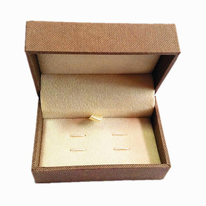 Wholesale Brown Paper Cuff link Box With Custom Logo