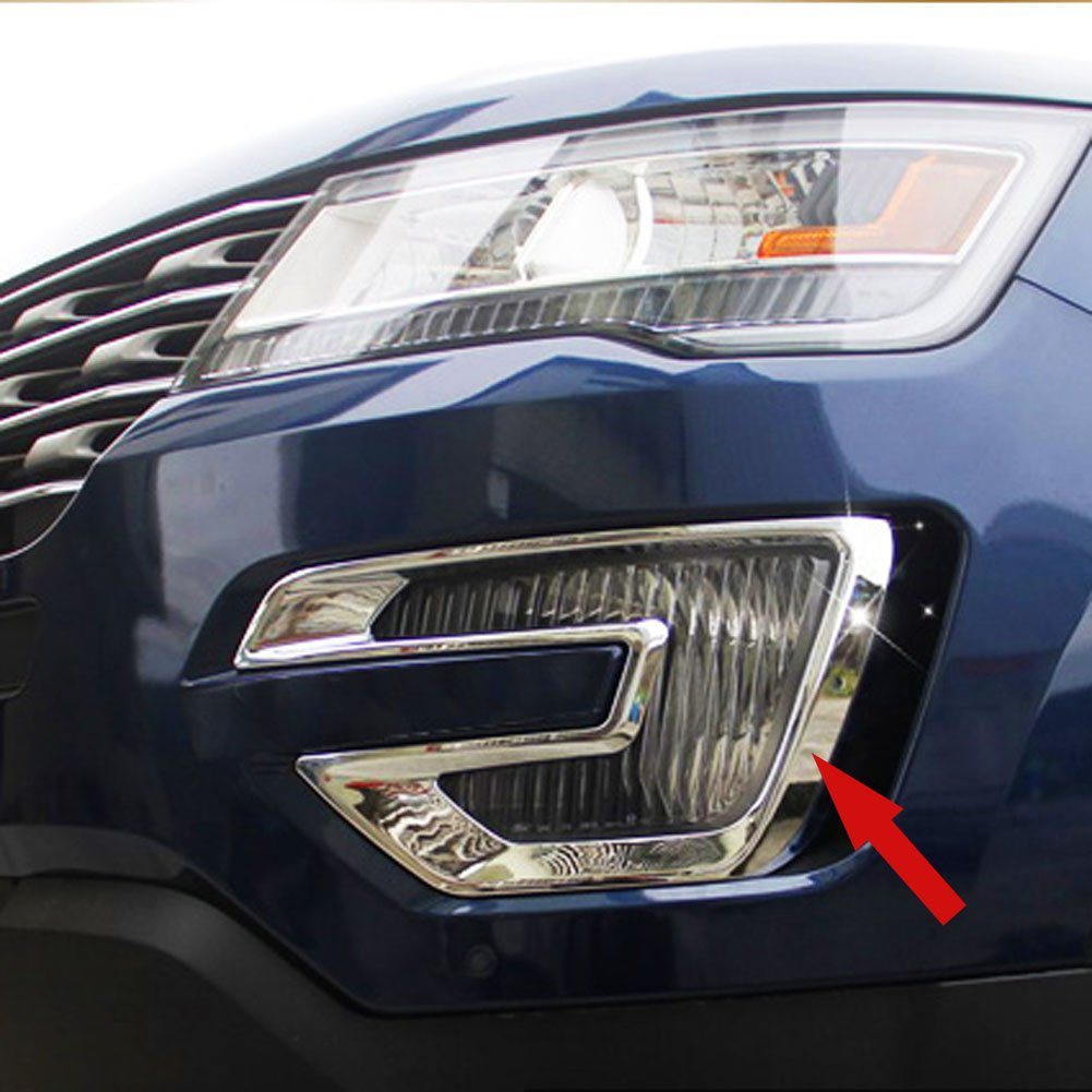 For 2015 2016 Jeep Compass Chrome Front Fog Lamp Abs Cover