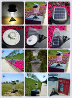 2015 new solar post lantern with 3w light power and 2.5w solar panel