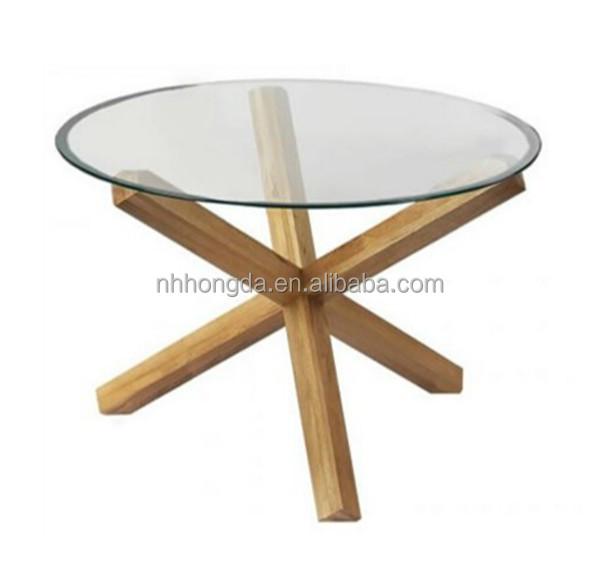 Table de cuisine ronde en verre table en verre ronde for Table etroite a rallonge