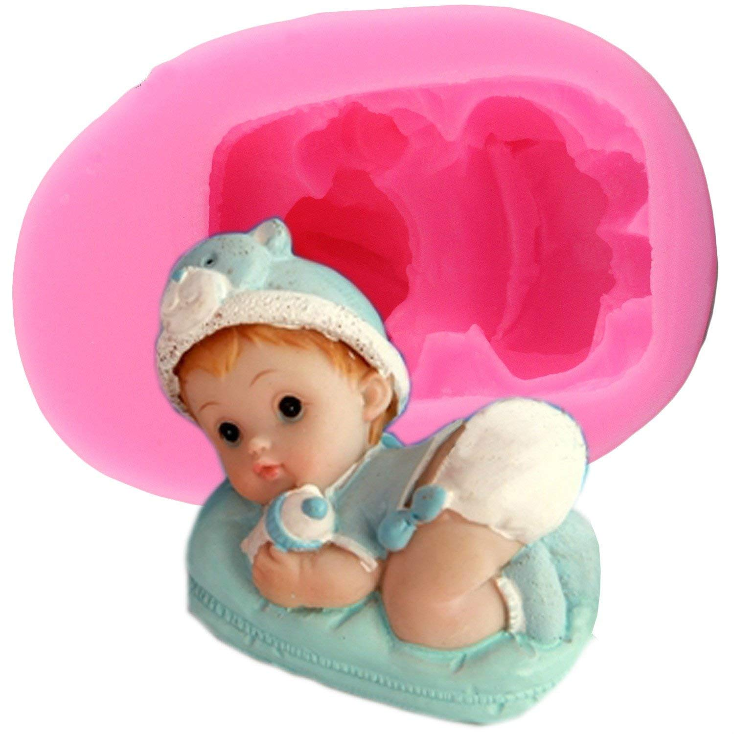 """Cute Baby Silicone Fondant Mold Cake Decoration Candy Chocolate Making Mold (3.74 1.97 1.65"""")"""