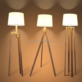 Moderna Lampada Da Terra In Legno 3 Gambe Del Treppiede Lampada Da ...