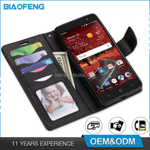 Lovely Design Flip Cover Mobile Cell Phone Wallet Case With Business Card Holder For BLU Dash XL/D710U