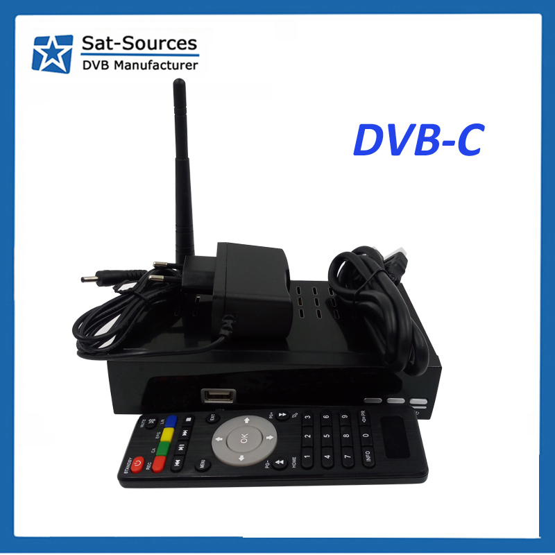 Good Quality DVB-CLinux system Set Top Box with USB Port low price for Brazil
