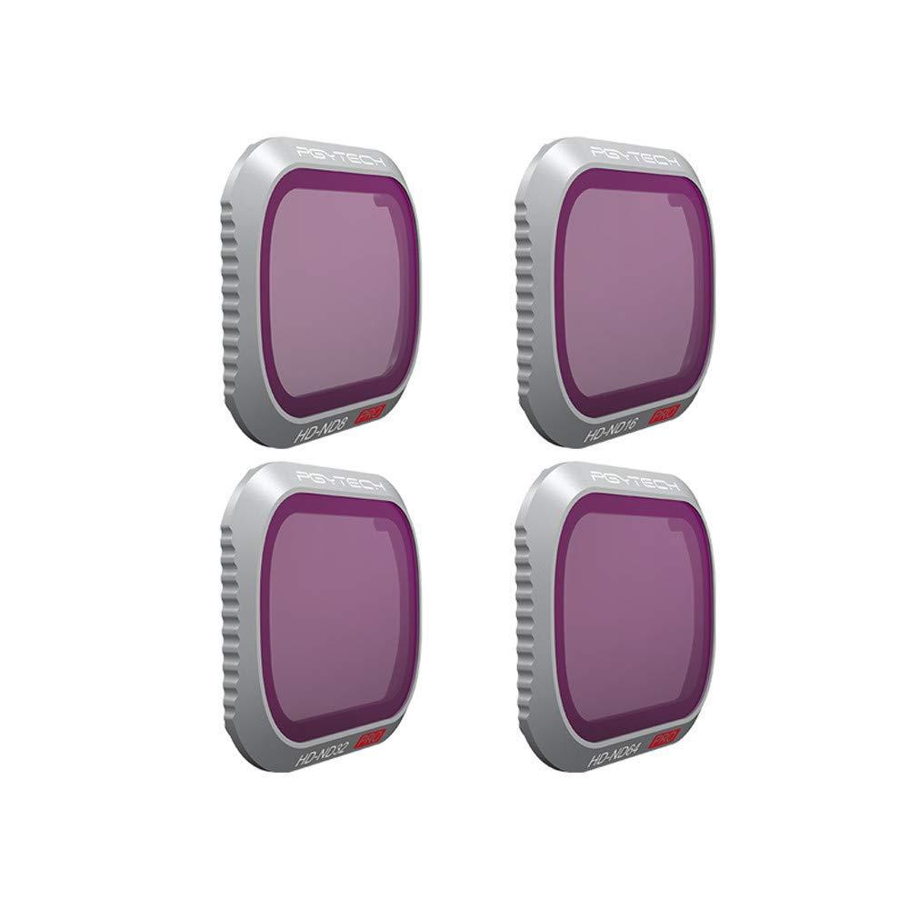 SUKEQ 4 Pieces Lens Filter Kit for DJI Mavic 2 Pro, 4 K Camera Multi Layer Coated Waterproof Aluminum Alloy Frame Camera Lens Filters Pack Accessories ND8, ND16, ND32, ND64 for DJI Mavic 2 Pro