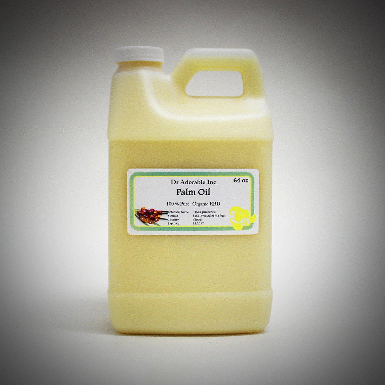 Palm Oil Pure Cold Pressed Organic 64 Oz / 2 Quarters