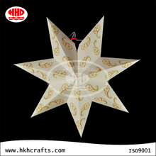 Star shaped paper lantern wedding decoration
