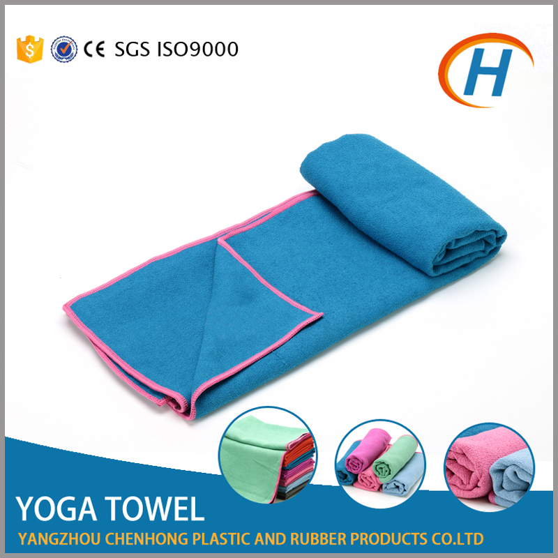 2015 non slip yoga mat towel, hot yoga towel thick, premium yoga towel