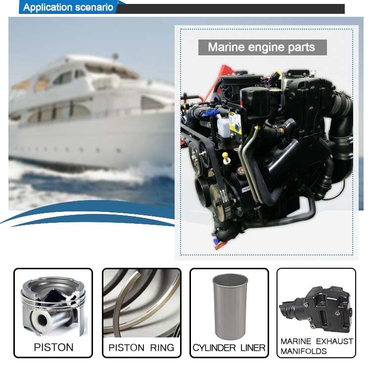 Động Cơ Diesel Một Phần Phổ Turbo Biển Xả Đa Dạng