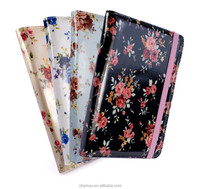 Slim Flower Book-Style fabric case cover for Amazon Kindle 4 / Touch / Paperwhite / 6