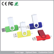 2017 Hot sale OTG USB flash drive, 1GB to 64GB USB flash drive for android phone, free sample!