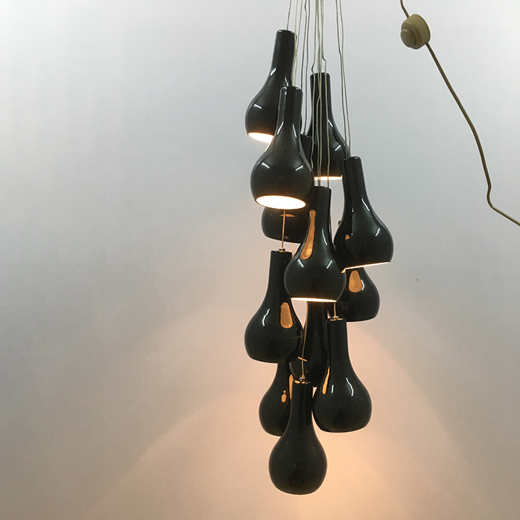 Black modern metal rattan nordic pendant lamp in China