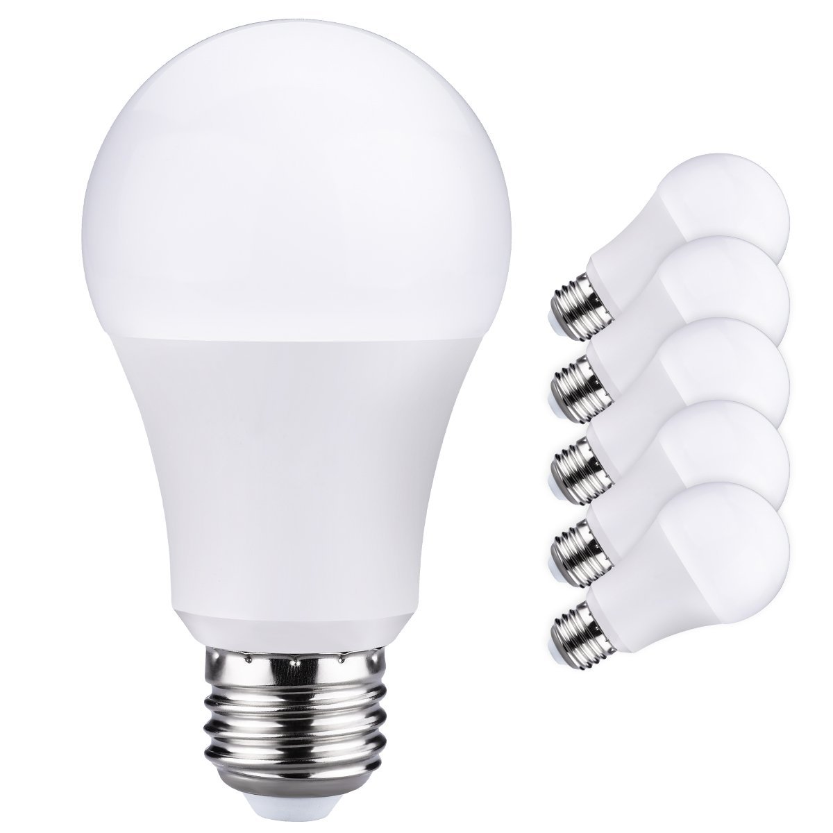 Litom Light Bulbs, 9W (60W Equivalent) 3000K A19 LED Bulbs, 800 Lumens Soft White E26 LED Lighting 6 Pack