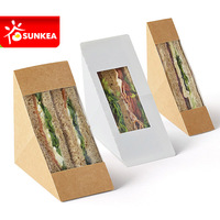 Paper sandwich wedge with logo