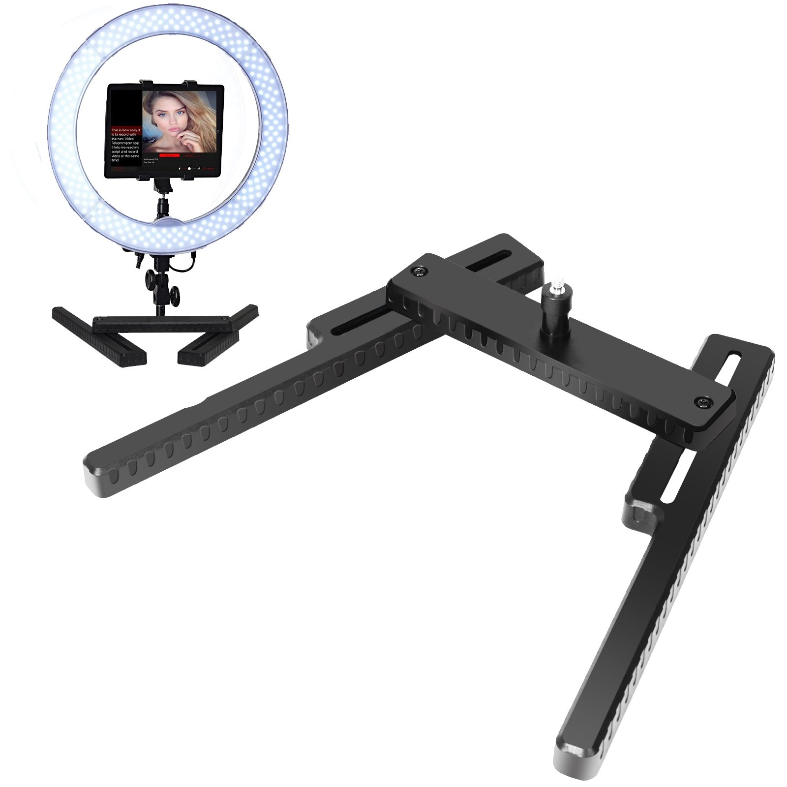 """Selens LED Ring Light Base Desktop Tabletop Stand Support Bracket with 1/4"""" Screw for Make Up, Youtube, Live Webcast, Portrait, Photography Video Shooting"""