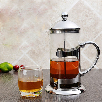 High Quality Heat Resistant Borosilicate Glass Stainless Steel Tea Maker/ Coffee plunger / French press