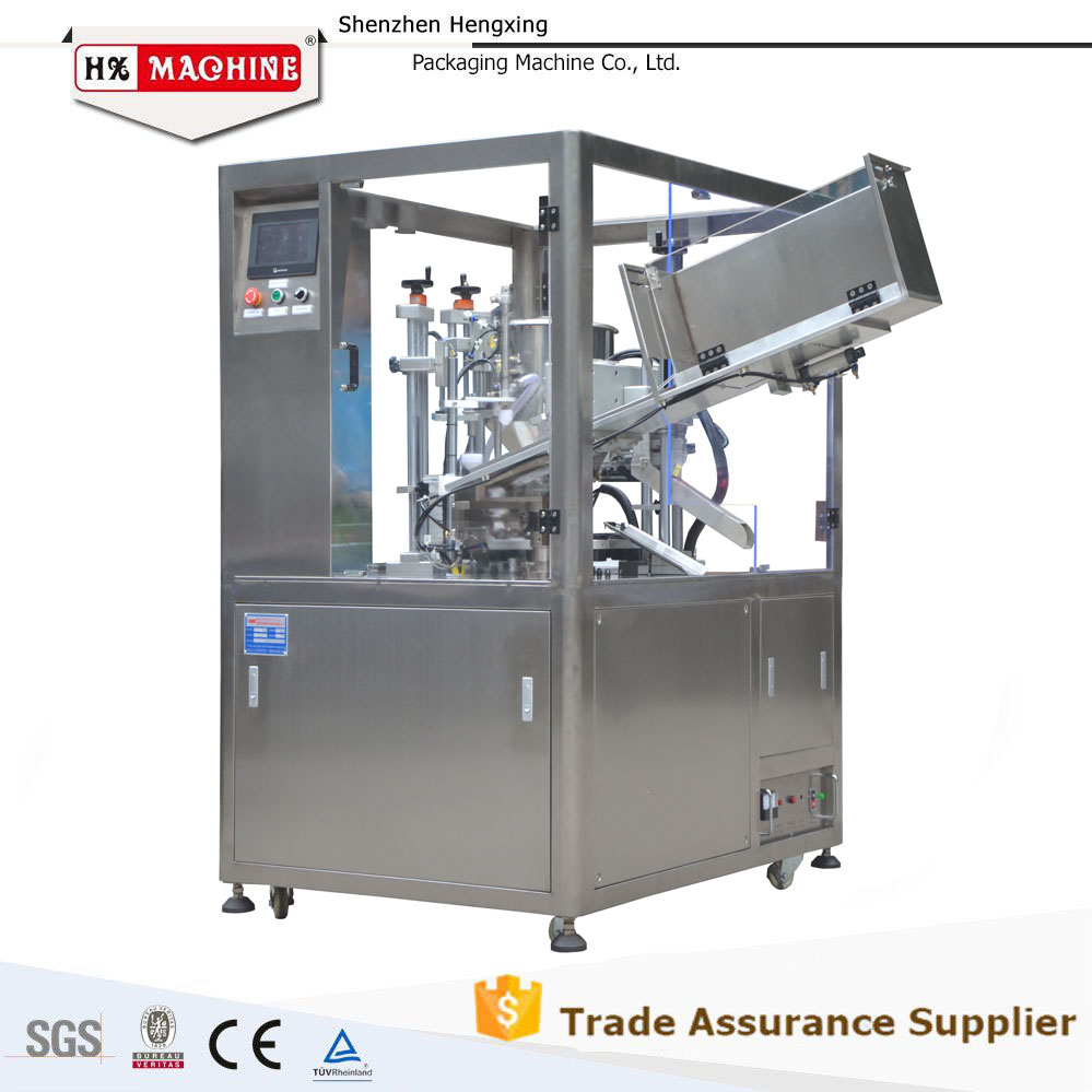 CE Certificate Automatic ultrasonic clear plastic tubes filling sealing machine
