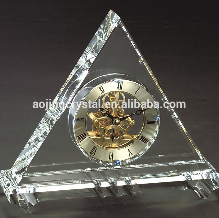 Factory Wholesale For Favor Antique Table Wedding Gifts Crystal Clock