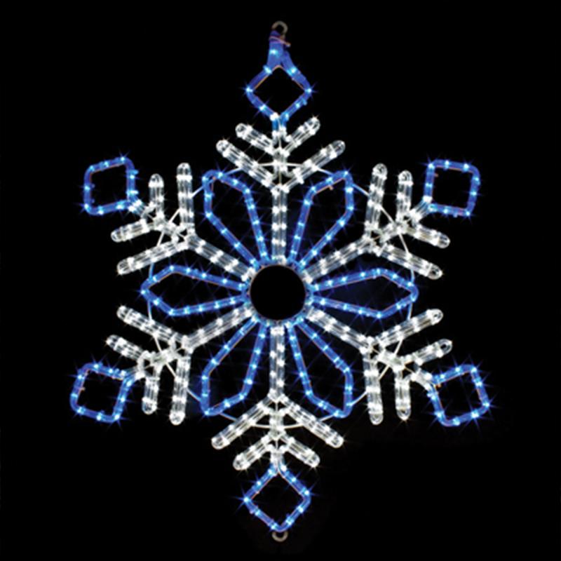 Géant Extérieur De Noël Flocon De Neige Éclairé Grande Qualité Commerciale  A Mené La Lumière De Corde Sculptures , Buy Flocons De Neige Allumés Par