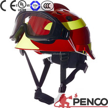 Firefighters safety working rescue helmet