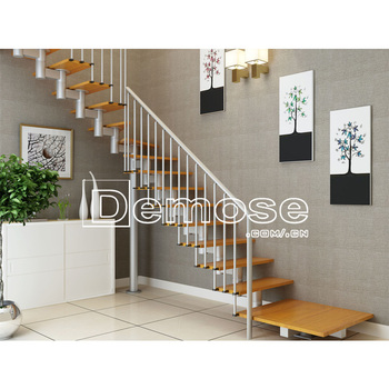 House Solid Wood Staircase With Wrought Iron Stair Handrail Por Stairs Designs