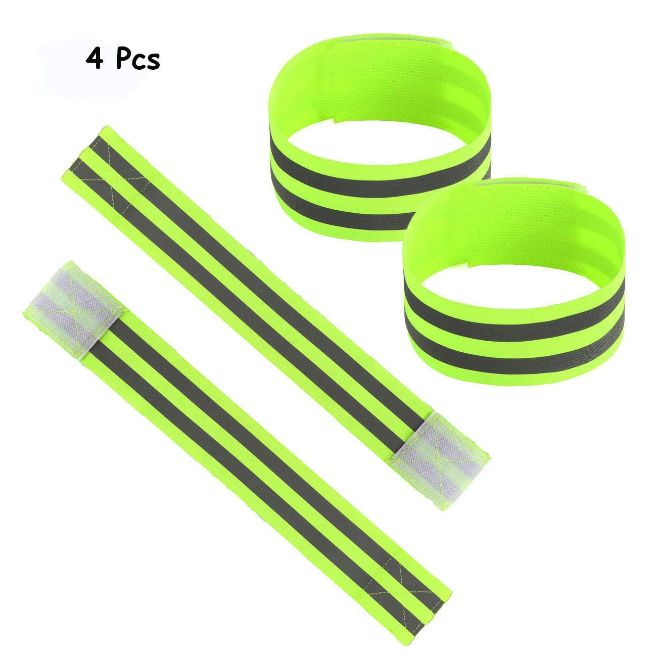 2 Pack Eurow Safety 3M Scotchlite Reflective Strips Bands With 4 LED