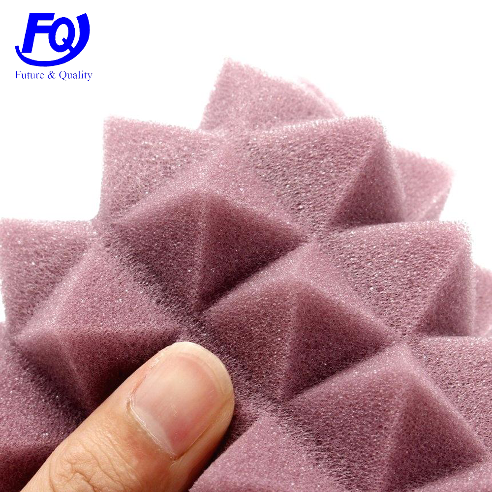 egg crate pyramid shaped fireproof soundproof absorbing insulation high density self adhesive acoustic foam <strong>panels</strong>