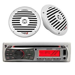 """MARINE, YACHT PACKAGE - MGR-208BT + XM65W 6.5"""" 250-Watt Marine Speakers"""