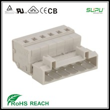 Ul 5.0mm pitch primavera jaula conector macho para PLC