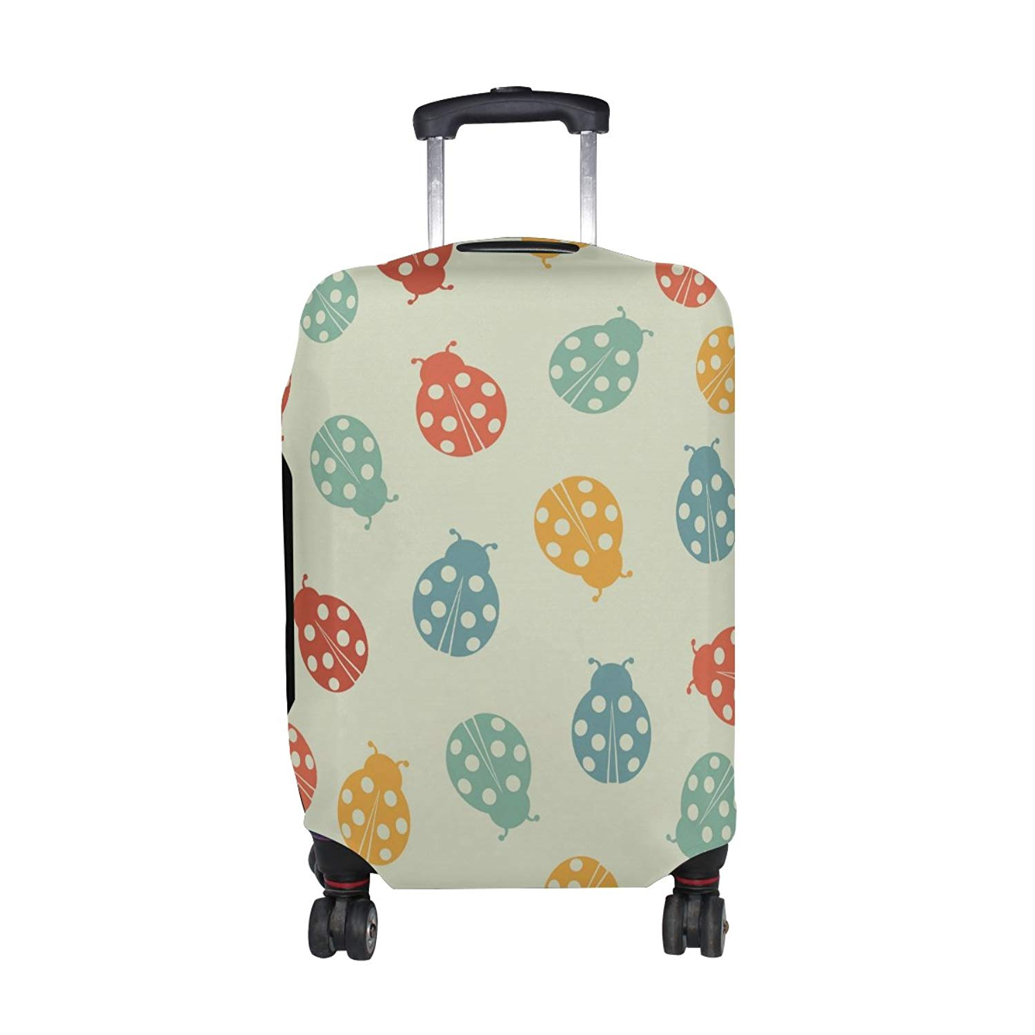 Fashion Travel Hong Kong Retro Pandas Luggage Suitcase Protector Washable Baggage Covers