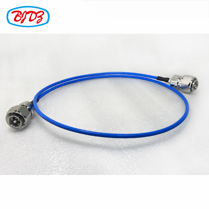 RF coaxial cable assembly L20 4.3-10 male to 4.3-10 male for 1m RG141 cable test component