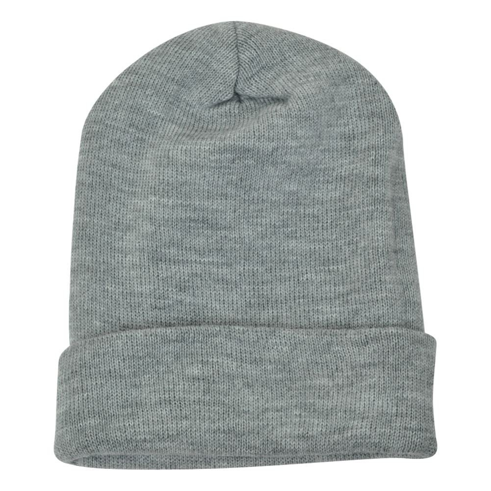 ... Red Thick Hat Beanie Pom Pom Knit Skully Toque  12.95. Heather Grey Blank  Plain Solid Mens Knit Beanie Cuffed Skully Thick Winter Toque 89fa3f9385b8