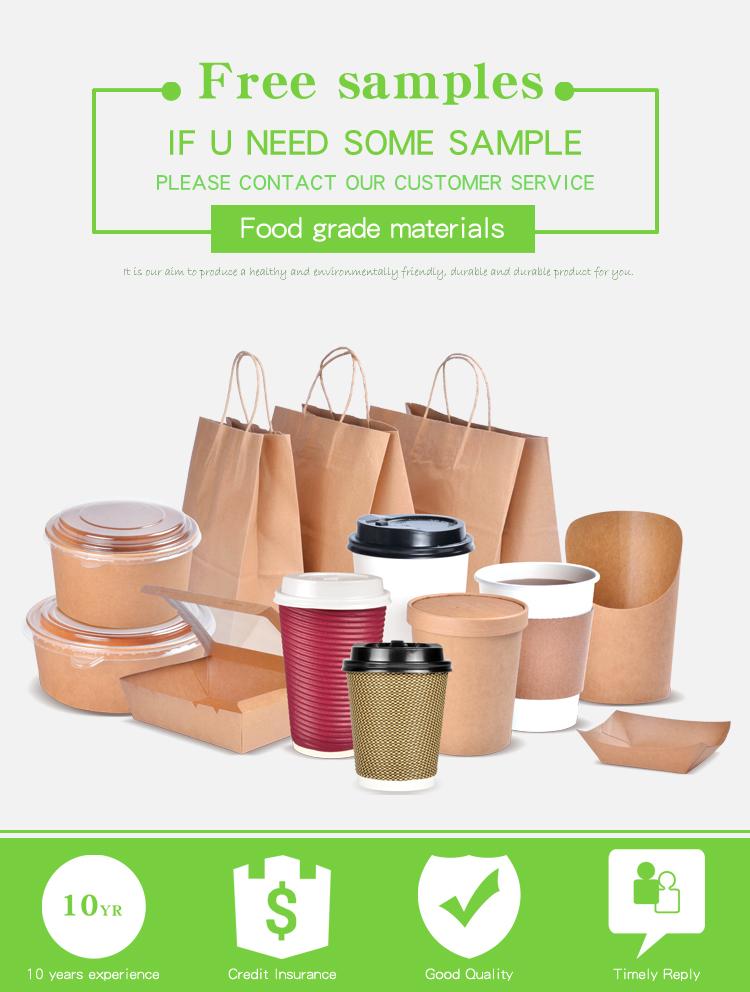Eco-vriendelijke voedsel levering gerecycled golfkarton wegwerp gebakken kip burger doos voor verpakking