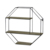 Gold Color girls rustic INS luxury Wall Hanging Floating Metal Wire Room Decoration 4 tiers saving space wall-mounted shelf