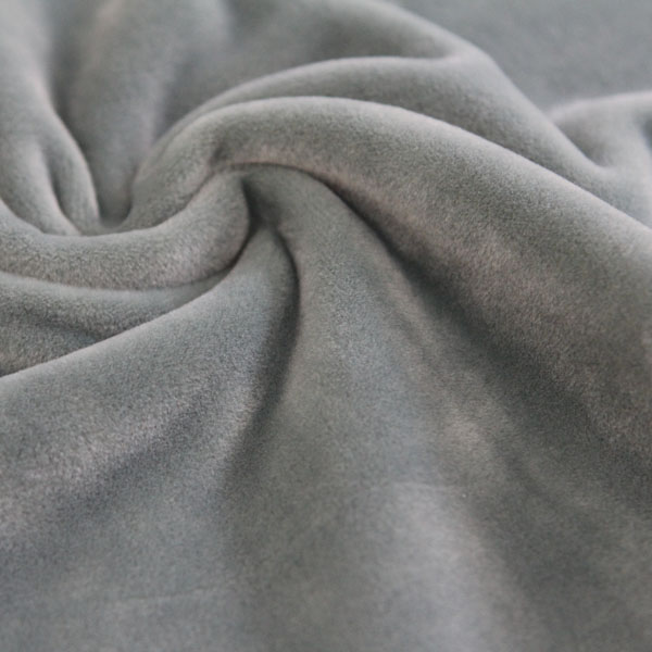 Super soft short velvet fabric microfiber brushed polyester plush brushed tricot plain fleece fabric