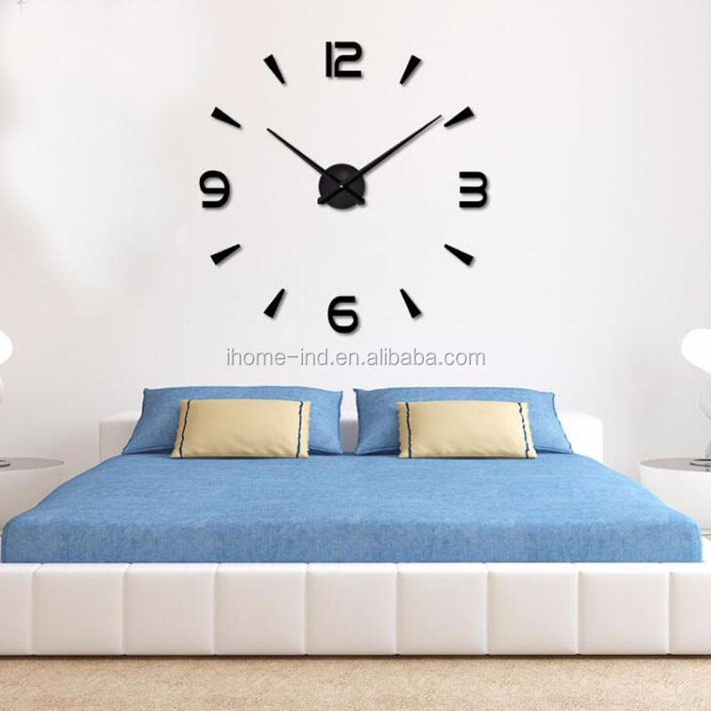 Alibaba.com / 2017 new big size number 130cm clock acrylic diy wall clock