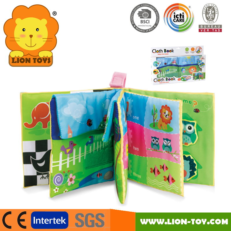 OEM Promotion Baby Fabric Cloth Soft baby cloth Book for Children baby education learning toys