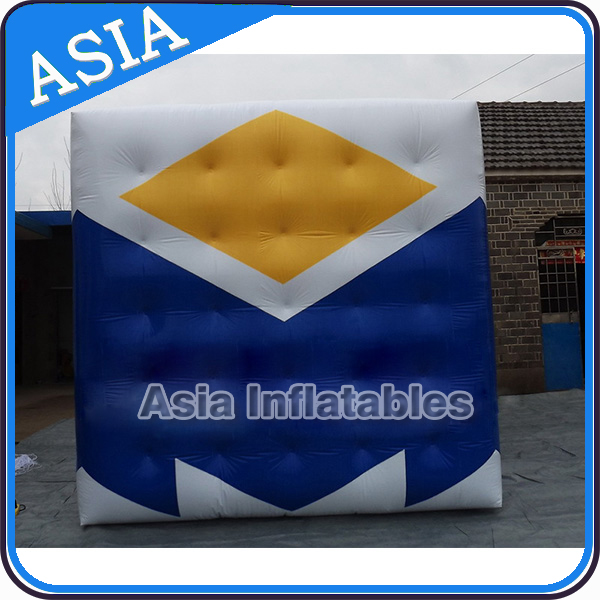 Inflatable Logo Cube Balloon / Giant Flying Cube Balloon LED Light