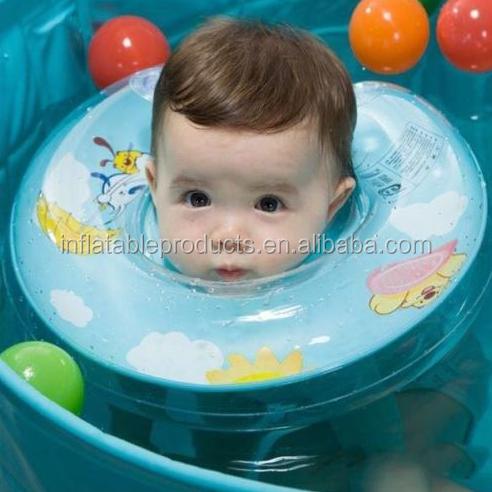 Pvc şişme bebek yüzmek boyun halkası