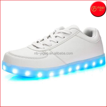 Hot sell super quality cheap Unisex Women Men USB Charging LED Sport Shoes Flashing Fashion Sneakers