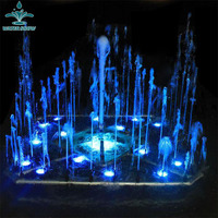 Outdoor Garden Fairy Decor Small Decorative Lake Water Fountain With Lights