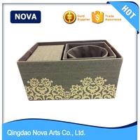 Round metal handle animal print cheap storage bins
