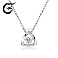 Triangle dancing 925 sterling silver pendant wholesale alibaba jewelry