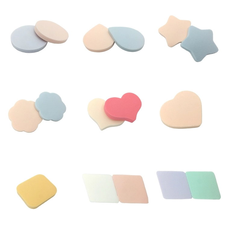 Wholesales Pink star shape makeup puff cosmetic sponge candy sponge aplicator latex free